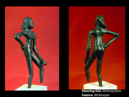 Dancing Girl, Mohenjodaro. Source- JM Kenoyer