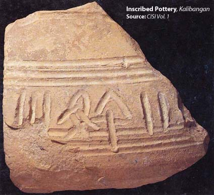 Inscribed Pottery, Kalibangan. Source- CISI V1